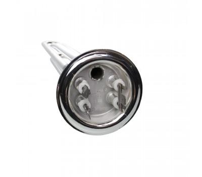 ТЭН RF 2000W(700+1300), Silver Original, медь, покрытая защитным материалом, Ø64, М4, 1 трубка для термостата, клеммы под разъем, L305мм, 220V, 20052S